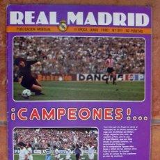 Coleccionismo deportivo: REAL MADRID - BOLETIN MENSUAL Nº 361 - JUNIO 1980. Lote 29913296