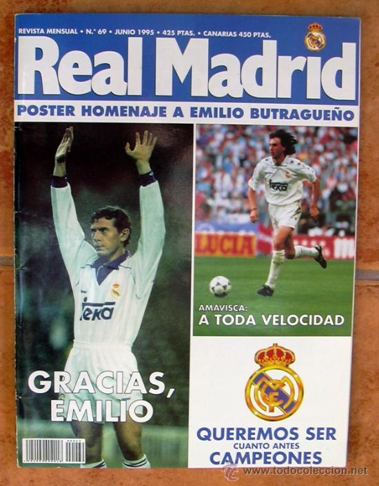 REAL MADRID - BOLETIN MENSUAL Nº 69 - JUNIO 1995 (Coleccionismo Deportivo - Revistas y Periódicos - otros Fútbol)