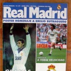 Coleccionismo deportivo: REAL MADRID - BOLETIN MENSUAL Nº 69 - JUNIO 1995. Lote 29913345