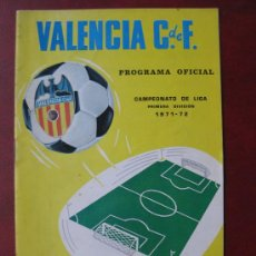 Coleccionismo deportivo: FUTBOL - PROGRAMA OFICIAL CAMPEONATO DE LIGA 1971-72 PRIMERA DIVISION, VALENCIA C.F.- REAL BETIS. Lote 269220273