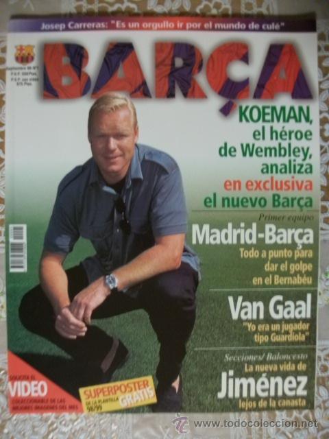 REVISTA BARÇA CF BARCELONA FC NUMERO 1 MAGAZINE F.C FUTBOL CLUB ILUSTRADA NUEVA CON POSTER AÑO 1998 (Coleccionismo Deportivo - Revistas y Periódicos - otros Fútbol)