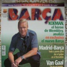 Coleccionismo deportivo: REVISTA BARÇA CF BARCELONA FC NUMERO 1 MAGAZINE F.C FUTBOL CLUB ILUSTRADA NUEVA CON POSTER AÑO 1998. Lote 30039495