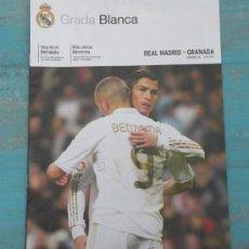 Collectionnisme sportif: REVISTA GRADA BLANCA DEL REAL MADRID - GRANADA - JORNADA 18 - POSTER DE CALLEJON - 07/01/2012 - EN P. Lote 30342803