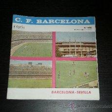 Coleccionismo deportivo: PROGRAMA OFICIAL - Nº 285 - NOV 1966 - FUTBOL CLUB BARCELONA / SEVILLA. Lote 30580348