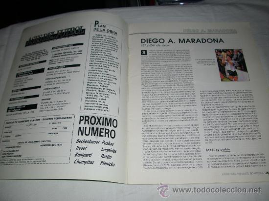 Coleccionismo deportivo: REVISTA ASES DEL FUTBOL MUNDIAL 2 MARADONA BONIEK IRIBAR MEAZZA PFAFF SPENCER RESENBRINK TOSTAO - Foto 3 - 30991513