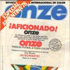 Coleccionismo deportivo: ESPECIAL EXTRA REVISTA ONZE ARGENTINA MUNDIAL 1978. Lote 31022084