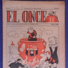 Coleccionismo deportivo: REVISTA EL ONCE 1955 FUTBOL CLUB F.C BARCELONA FC BARÇA CF LA VERDAD KUBALA VER FOTO ES EL MISMO. Lote 31521887