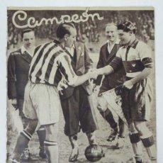 Coleccionismo deportivo: ANTIGUO REVISTA DE DEPORTES, CAMPEON, MARZO 1936, NUM. 173, ESTE NUMERO ESTA DEDICADO AL FUTBOL, BOX. Lote 31624844
