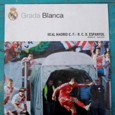 Collectionnisme sportif: REVISTA GRADA BLANCA DEL REAL MADRID - JORNADA 26 CONTRA EL ESPANYOL - 04/03/2012 - POSTER VICTORIA . Lote 31819583
