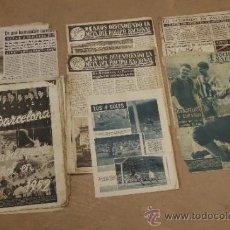 Lote de restos de diarios deportivos de futbol, Barça. Futbol club barcelona