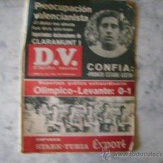 Coleccionismo deportivo: EL DEPORTIVO VALENCIANO,AÑO II Nº 53-FESTIVAL LEVANTINISTA-REPORTAJE A CLARAMUNT.VALENCIA C.F.. Lote 31862316