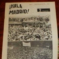 Coleccionismo deportivo: ANTIGUO Y RARISIMO SEMANARIO DEPORTIVO MADRIDISTA, REAL MADRID, FUTBOL - ¡HALA MADRID! NUM. 41 - AÑO. Lote 32077970