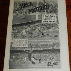 Coleccionismo deportivo: ANTIGUO Y RARISIMO SEMANARIO DEPORTIVO MADRIDISTA, REAL MADRID, FUTBOL - ¡HALA MADRID! NUM. 43 - AÑO. Lote 32077985