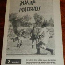 Coleccionismo deportivo: ANTIGUO Y RARISIMO SEMANARIO DEPORTIVO MADRIDISTA, REAL MADRID, FUTBOL - ¡HALA MADRID! NUM. 44 - AÑO. Lote 32077992