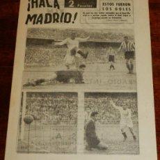 Coleccionismo deportivo: ANTIGUO Y RARISIMO SEMANARIO DEPORTIVO MADRIDISTA, REAL MADRID, FUTBOL - ¡HALA MADRID! NUM. 45 - AÑO. Lote 32078017