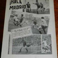 Coleccionismo deportivo: ANTIGUO Y RARISIMO SEMANARIO DEPORTIVO MADRIDISTA, REAL MADRID, FUTBOL - ¡HALA MADRID! NUM. 48 - AÑO. Lote 32078030