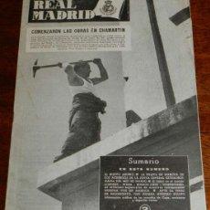 Coleccionismo deportivo: ANTIGUO Y RARISIMO BOLETIN INFORMATIVO DEL REAL MADRID - NUM. 36 - 1953 - TIENE 32 PAGINAS INCLUYEN. Lote 32078051