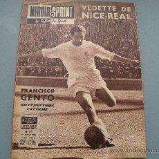 Coleccionismo deportivo: REVISTA FRANCESA MIROIR SPRINT, REPORTAJE EXCLUSIVO, PACO GENTO REAL MADRID 1960. Lote 32117667