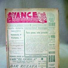 Coleccionismo deportivo: REVISTA, AVANCE QUINIELISTA, DICIEMBRE 1956, VALENCIA. Lote 32213259