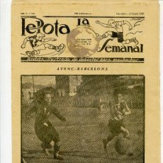 Coleccionismo deportivo: REVISTA LA PELOTA SEMANAL 11 ENERO 1923 . Lote 32226969