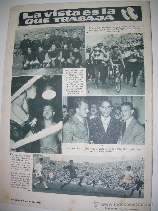 Coleccionismo deportivo: REVISTA DEPORTIVA DICEN...AÑO VI...Nº. 258...AÑO 1.957 - Foto 2 - 32450830