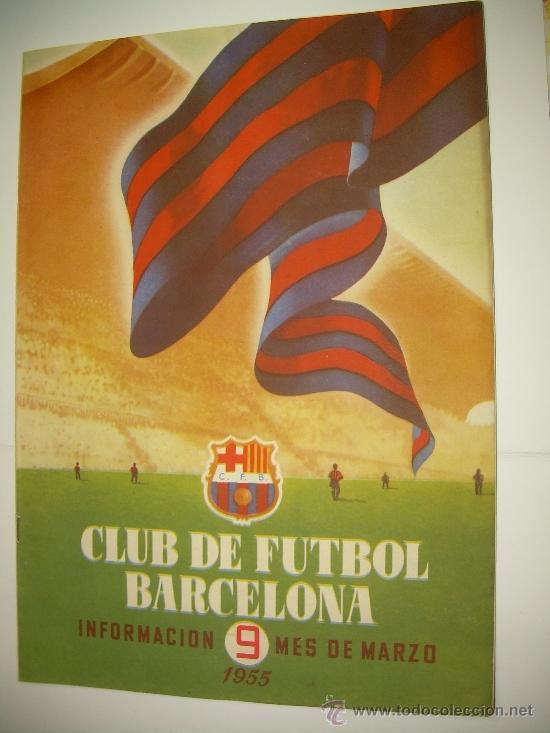 CLUB DE FUTBOL BARCELONA ...REVISTA DE INFORMACION MES DE MARZO DE 1.955 (Coleccionismo Deportivo - Revistas y Periódicos - otros Fútbol)