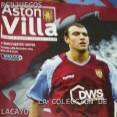 Coleccionismo deportivo: ASTON VILLA VS. MANCHESTER UNITED . Lote 32481393