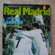 Coleccionismo deportivo: REVISTA REAL MADRID Nº 3. JUNIO 1989. INEVITABLE CAMPEÓN. 90 PÁGINAS. Lote 32801642