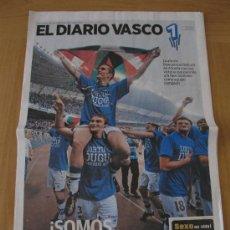 Coleccionismo deportivo: REAL SOCIEDAD SUPLEMENTO ESPECIAL ASCENSO PRIMERA DIVISION DIARIO VASCO 14 JUNIO 2010 . Lote 32986938