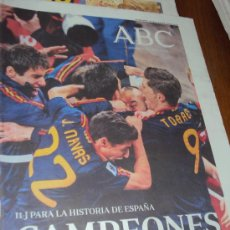 Coleccionismo deportivo: ABC 12-7-2010 . CAMPEONES .. Lote 33303599