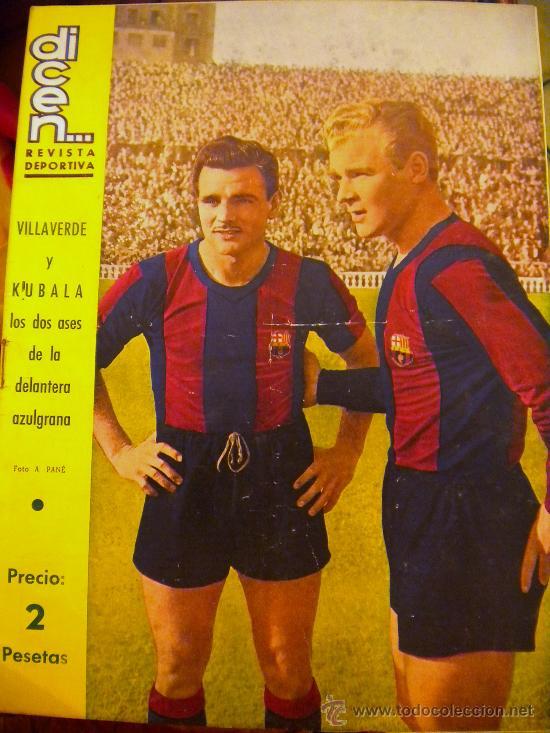 REVISTA DICEN KUBALA Y VILLAVERDE. (Coleccionismo Deportivo - Revistas y Periódicos - otros Fútbol)