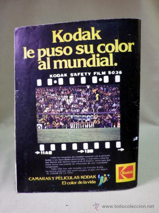 Coleccionismo deportivo: REVISTA, FUTBOL, GRAFICO, LAS 100 MEJORES FOTOS DEL MUNDIAL, ARGENTINA 1978 - Foto 5 - 33427370