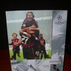 Coleccionismo deportivo: REVISTA OFICIAL UEFA CHAMPIONS LEAGUE 2002 / 2003. ESTADISTICAS.. Lote 33365642
