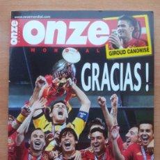 Coleccionismo deportivo: REVISTA ONZE MONDIAL EXTRA EURO 2012 - SELECCION ESPAÑOLA CAMPEONA DE EUROPA - POSTER TORRES -. Lote 224578403