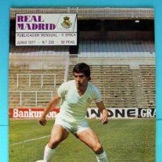 Coleccionismo deportivo: REAL MADRID - BOLETIN MENSUAL Nº 325 - JUNIO DE 1977 - CON POSTER, VER DENTRO. Lote 33539383