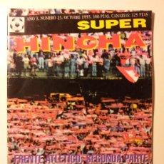 Collectionnisme sportif: SUPER HINCHA Nº 25. OCTUBRE 1995. FRENTE ATLÉTICO. FÚTBOL. ULTRAS. HOOLIGANS.. Lote 34086054