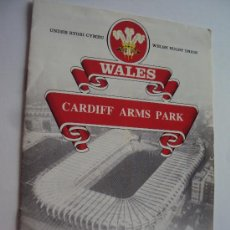 Coleccionismo deportivo: WALES . CARDIFF ARMS PARK .. Lote 34311820