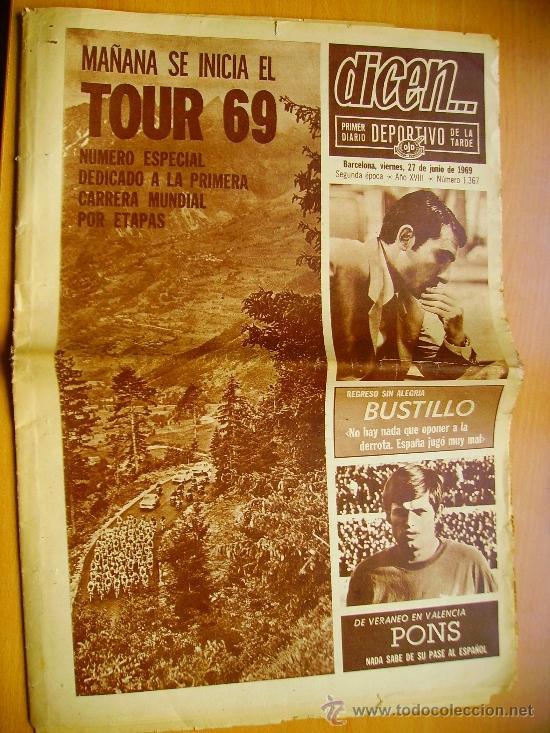 DICEN... Nº1367- 27/6/69-SELECCIÓN ESPAÑOLA DE FUTBAL- F. C.BARCELONA (Coleccionismo Deportivo - Revistas y Periódicos - otros Fútbol)