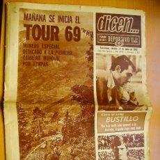 Coleccionismo deportivo: DICEN... Nº1367- 27/6/69-SELECCIÓN ESPAÑOLA DE FUTBAL- F. C.BARCELONA. Lote 34350221