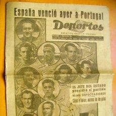 Coleccionismo deportivo: DEPORTES Nº338- 22/3/48- I GRAN PREMIO VALENCIA DE MOTOCICLISMO-BARCELONA-SELECCIÓN ESPAÑOLA FUTBOL. Lote 34350301