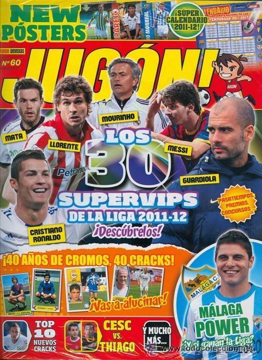 1 EJEMPLAR REVISTA JUGON - Nº 60 - ESPECIAL 40 AÑOS DE CROMOS INCLUYE POSTER IRAOLA - PAREJO GRANADA (Coleccionismo Deportivo - Revistas y Periódicos - otros Fútbol)