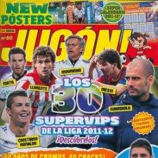 Coleccionismo deportivo: 1 EJEMPLAR REVISTA JUGON - Nº 60 - ESPECIAL 40 AÑOS DE CROMOS INCLUYE POSTER IRAOLA - PAREJO GRANADA. Lote 34392306