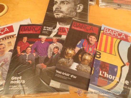 (9005) REVISTAS DEL F.C. BARCELONA DEL AÑO 2012- 6 REVISTAS (Coleccionismo Deportivo - Revistas y Periódicos - otros Fútbol)