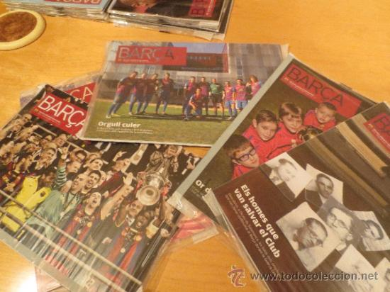 (9003) REVISTAS DEL F.C. BARCELONA DEL AÑO 2011- 5 REVISTAS- (Coleccionismo Deportivo - Revistas y Periódicos - otros Fútbol)
