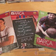 Coleccionismo deportivo: (9001) REVISTAS DEL F.C. BARCELONA DEL AÑO 2009- 3 REVISTAS-. Lote 35268907