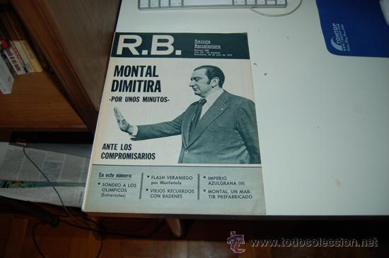 BARÇA: REVISTA BARCELONISTA ( RB ) NÚMERO 590. 1976 (Coleccionismo Deportivo - Revistas y Periódicos - otros Fútbol)