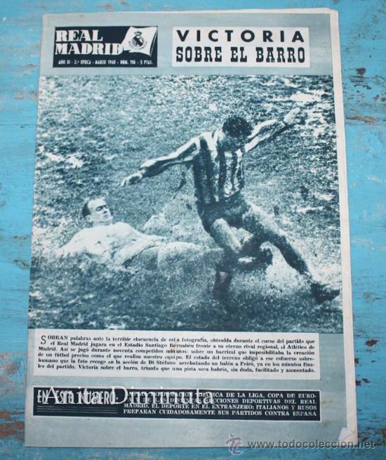 REVISTA REAL MADRID Nº 116 - MARZO 1960 - RUSIA, ITALIA EN CHILE, LIGA INGLESA, CUARTOS DE FINAL COP (Coleccionismo Deportivo - Revistas y Periódicos - otros Fútbol)