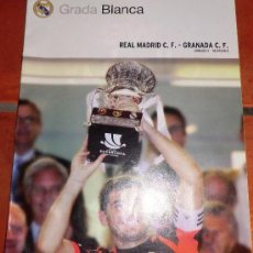 Colecionismo desportivo: REVISTA GRADA BLANCA REAL MADRID. JORNADA 3 (SEPT2012) .PARTIDO CONTRA GRANADA. PÓSTER SUPERCOPA 12. Lote 35491165