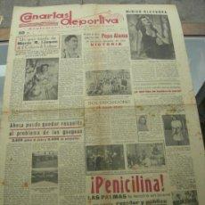 Collezionismo sportivo: CANARIAS DEPORTIVA. 27 DE ABRIL DE 1946. MIRIAN KLECKOVA. PEPE ALAMO. TENIS. LISSON. PENICILINA. Lote 35807723