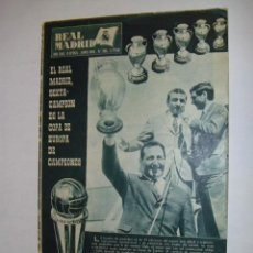 Coleccionismo deportivo: REVISTA OFICIAL REAL MADRID CAMPEON COPA EUROPA 1965-1966 (Nº193 - JUNIO 1966) - CROMOS . Lote 36067032
